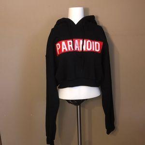 Paranoid Cropped Sweatshirt